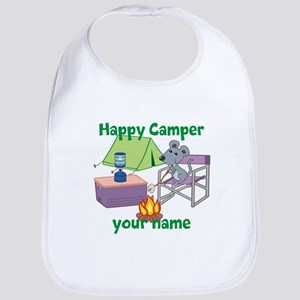 Custom Happy Camper Mouse Bib