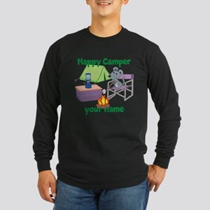 Custom Happy Camper Mouse Long Sleeve T-Shirt