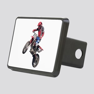 Red Dirt Bike Rectangular Hitch Cover