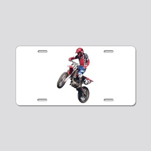 Red Dirt Bike Aluminum License Plate