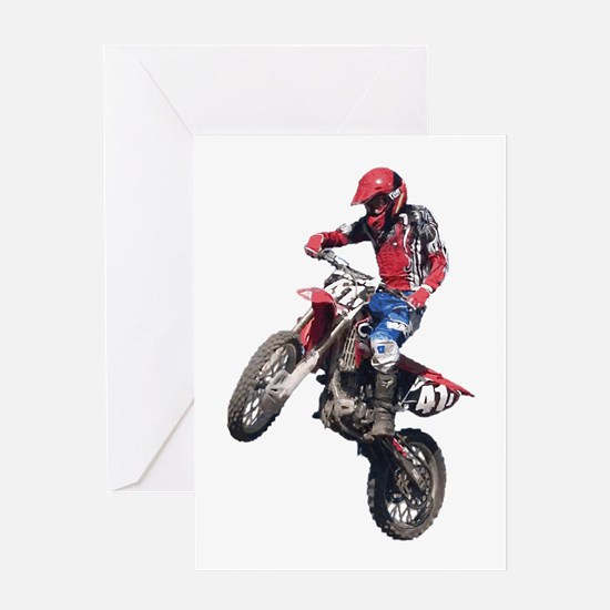 Red Dirt Bike Greeting Card