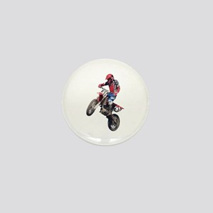 Red Dirt Bike Mini Button