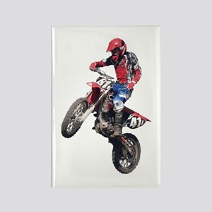 Red Dirt Bike Rectangle Magnet
