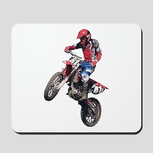 Red Dirt Bike Mousepad