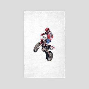 Red Dirt Bike 3'x5' Area Rug