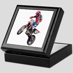 Red Dirt Bike Keepsake Box