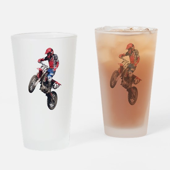Red Dirt Bike Drinking Glass