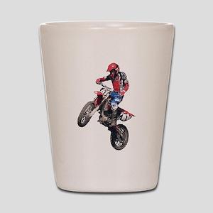 Red Dirt Bike Shot Glass