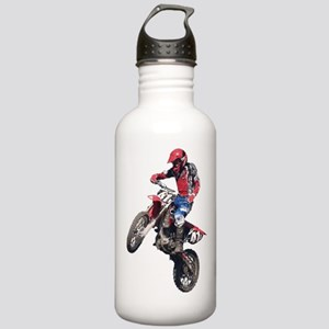 Red Dirt Bike Stainless Water Bottle 1.0L