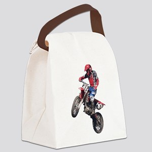 Red Dirt Bike Canvas Lunch Bag