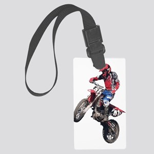 Red Dirt Bike Large Luggage Tag
