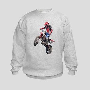 Red Dirt Bike Kids Sweatshirt