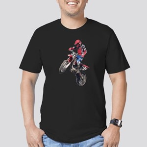 Red Dirt Bike Men's Fitted T-Shirt (dark)
