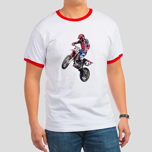 Red Dirt Bike Ringer T