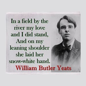 In A Field By The River - Yeats Throw Blanket