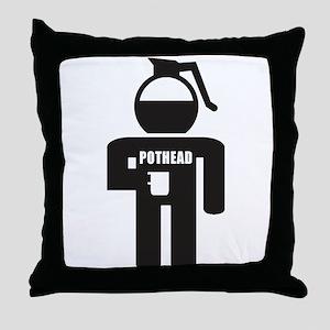 Pothead Throw Pillow