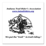 Indiana Trail Riders logo Square Car Magnet 3&quot