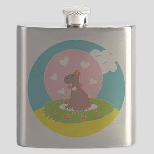 Capybara in Love Flask