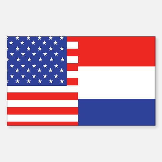 USA/Holland Rectangle Decal