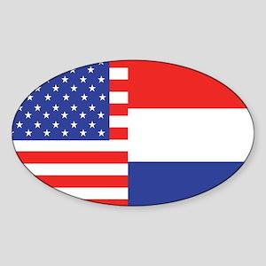 USA/Holland Oval Sticker