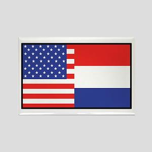 USA/Holland Rectangle Magnet