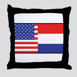 USA/Holland Throw Pillow