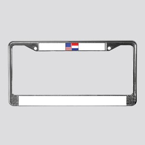 USA/Holland License Plate Frame