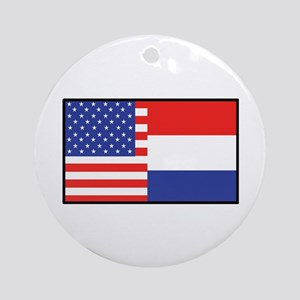 USA/Holland Ornament (Round)