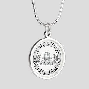 EOD Senior ISoTF Silver Round Necklace