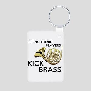 Horn Players Kick Brass Keychains