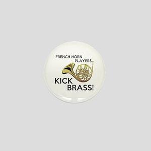 Horn Players Kick Brass Mini Button