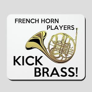 Horn Players Kick Brass Mousepad