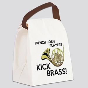 Horn Players Kick Brass Canvas Lunch Bag