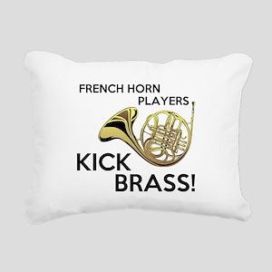 Horn Players Kick Brass Rectangular Canvas Pillow