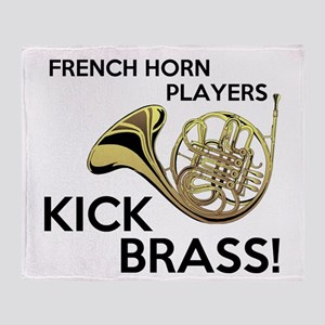 Horn Players Kick Brass Throw Blanket