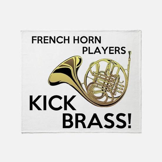 Horn Players Kick Brass Throw Blanket