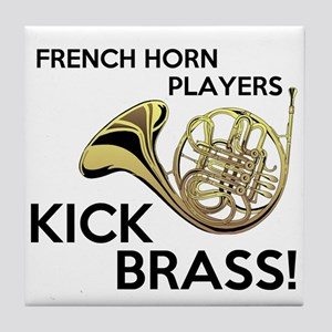 Horn Players Kick Brass Tile Coaster