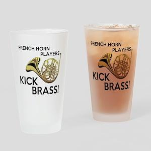 Horn Players Kick Brass Drinking Glass
