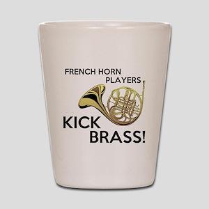Horn Players Kick Brass Shot Glass