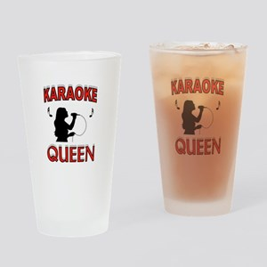 KARAOKE QUEEN Drinking Glass