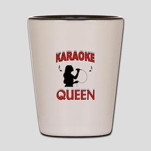KARAOKE QUEEN Shot Glass