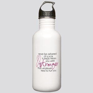 Stronger than Cancer Stainless Water Bottle 1.0L