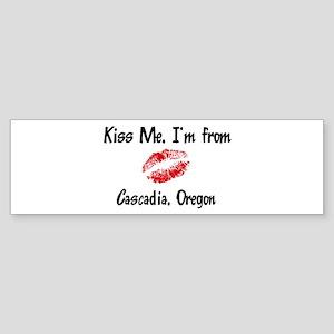 Cascadia - Kiss Me Bumper Sticker