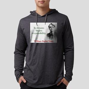 In Dreams Begin Responsibility - Yeats Mens Hooded