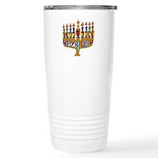 Happy Hanukkah Dreidel Menorah Travel Mug