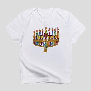 Happy Hanukkah Dreidel Menorah Infant T-Shirt