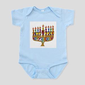 Happy Hanukkah Dreidel Menorah Body Suit
