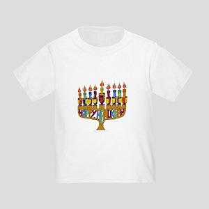 Happy Hanukkah Dreidel Menorah T-Shirt