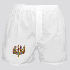 Happy Hanukkah Dreidel Menorah Boxer Shorts