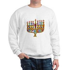 Happy Hanukkah Dreidel Menorah Sweatshirt